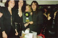 Left to right Malin, Danny, Debbie Bonham & Pete Bullick
